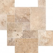 Mix Travertine French Pattern Set 1,2 cm Turkey Opus 4 vielle tumbled rustique pierre naturelle