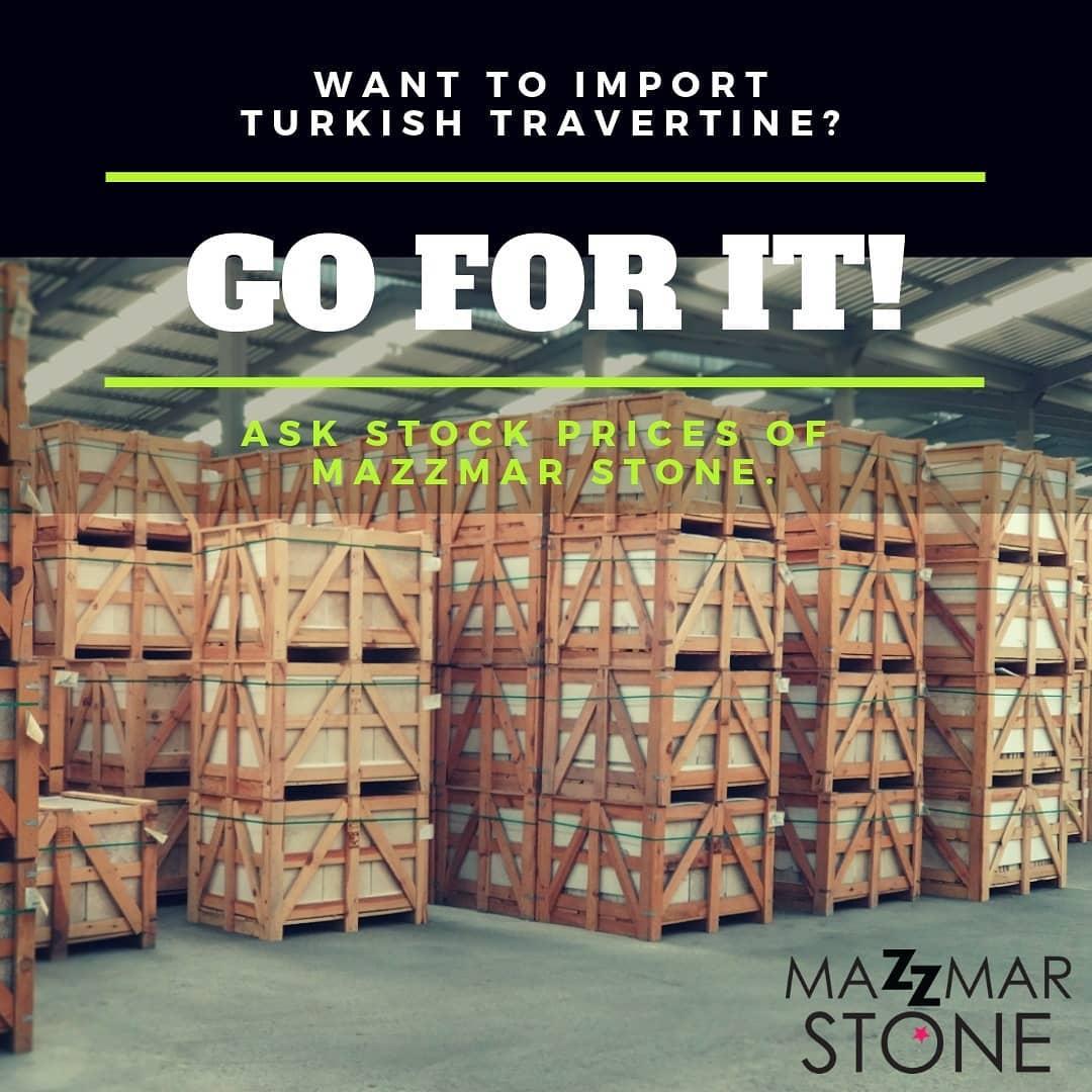 Travertine Turkey Import Stock