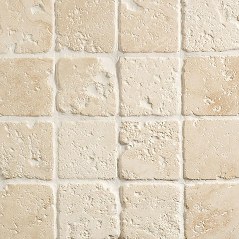 Tumbled Travertine Colors : Light travertine tumbled mazzmar stone