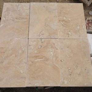 Travertine Splitface Tumbled Light 10xflx23 Cm Mazzmar Stone