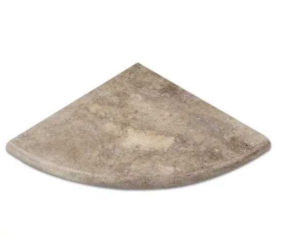 Travertine Silver Corner Shelve