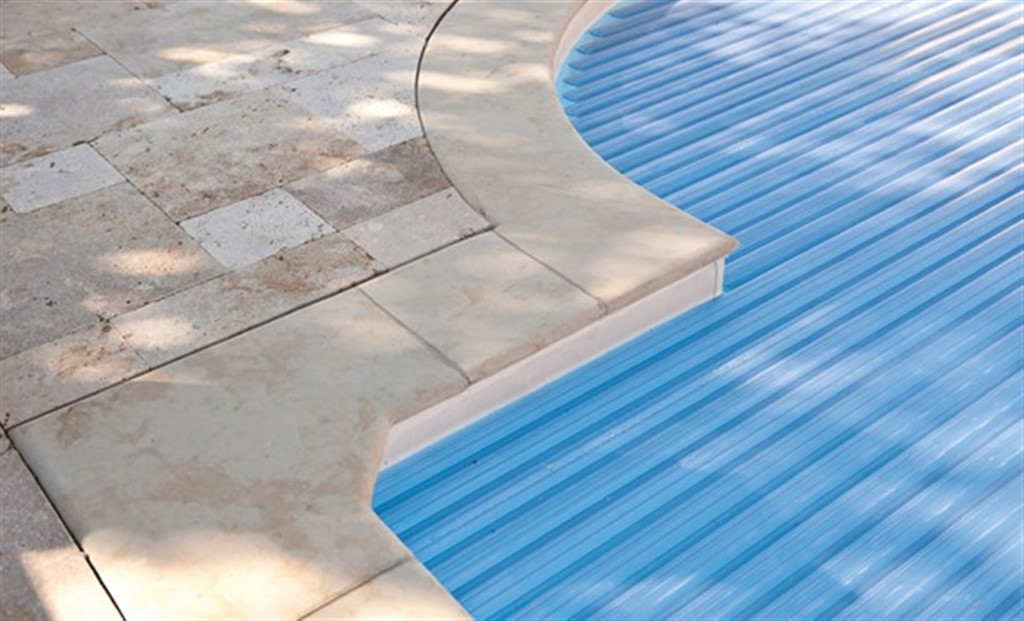 Travertine Bullnose Light Pool Coping Xx Cm Mazzmar Stone - Bullnose tiles for pools