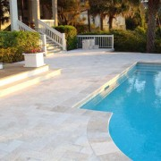 Light Travertine Bullnose Pool Coping 12x24 30,5x61x3 cm (9)