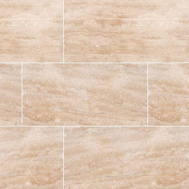 Ivory Light Honed Filled Travertine Tiles 18x18: Light Travertine Veincut Filled Honed 30,5x61x1,2 Cm