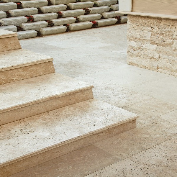Travertine Stairs 35 x FL x 3 cm | Mazzmar Stone