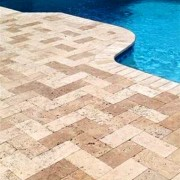 travertine tumbled pavers 3 cm antique