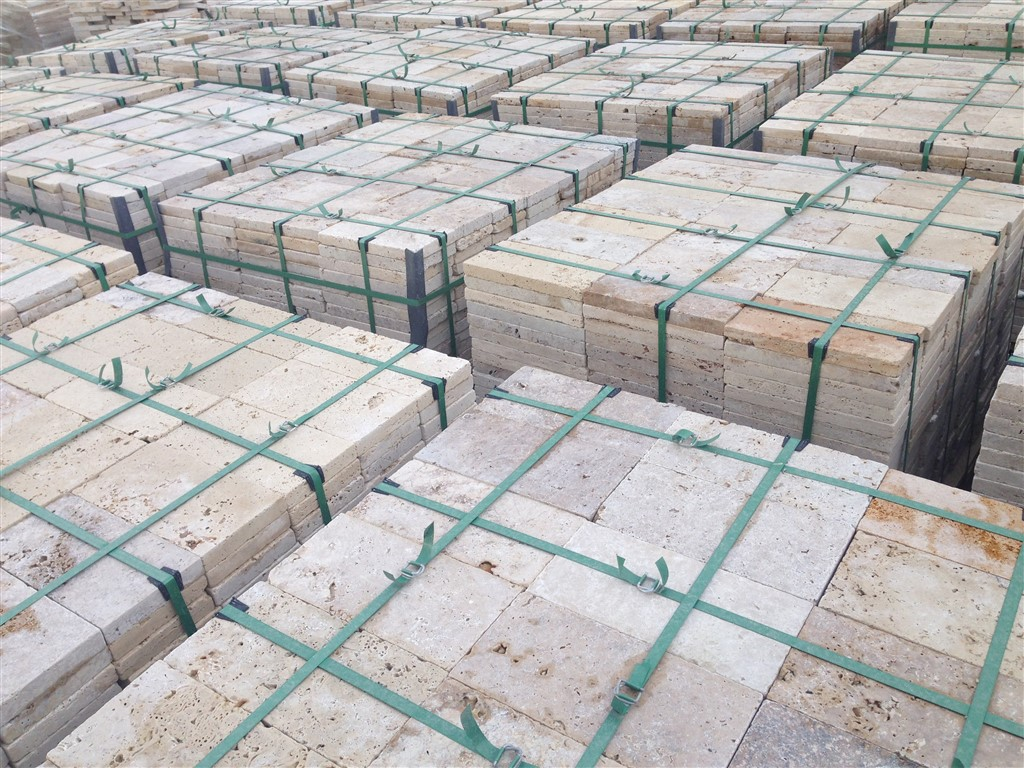 Travertine Pavers Tumbled Rustic 3 cm Commercial Grade 15,25x30 ...
