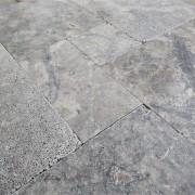 Silver Travertine - French Pattern Set 1,2 cm - (5)